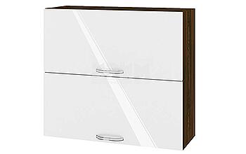 Горен кухненски шкаф с две повдигащи се врати - 80 см МДФ лице - ВФ-Бяло гланц-05-12