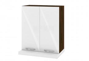 Горен кухненски шкаф за вграден абсорбатор - 60 см МДФ лице - ВФ-Бяло гланц-05-13