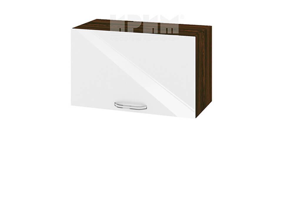 Горен кухненски шкаф с една повдигаща се врата - 60 см МДФ лице - ВФ-Бяло гланц-05-15