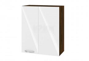 Горен кухненски шкаф за ъгъл - 60 см МДФ лице - ВФ-Бяло гланц-05-17