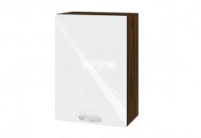 Горен кухненски шкаф с една врата - 50 см МДФ лице - ВФ-Бяло гланц-05-18