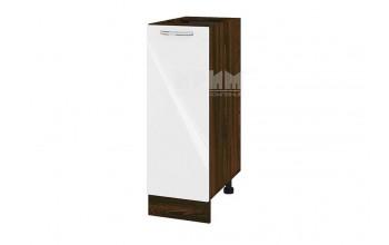 Долен кухненски шкаф с една врата - 30 см МДФ лице - ВФ-Бяло гланц-05-20