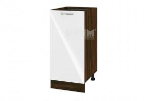 Долен кухненски шкаф с една врата - 40 см МДФ лице - ВФ-Бяло гланц-05-21