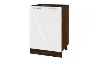 Долен кухненски шкаф с две врати - 60 см МДФ лице - ВФ-Бяло гланц-05-22