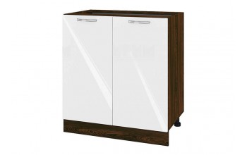 Долен кухненски шкаф с две врати - 80 см МДФ лице - ВФ-Бяло гланц-05-23