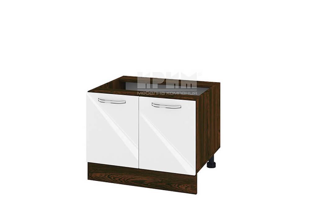 Кухненски шкаф с две врати за печка Раховец - 60 см МДФ лице - ВФ-Бяло гланц-05-32