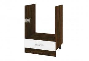 Кухненски шкаф за вграждане на фурна с едно чекмедже - 60 см МДФ лице - ВФ-Бяло гланц-05-36
