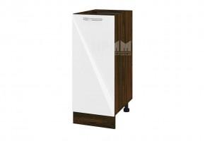 Долен кухненски шкаф с една врата - 35 см МДФ лице - ВФ-Бяло гланц-05-40