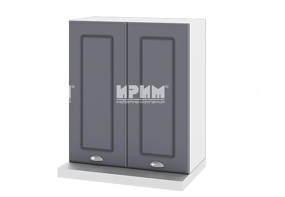 Горен кухненски шкаф за вграден абсорбатор - 60 см МДФ лице - БФ-Цимент мат-06-13
