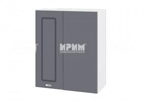 Горен кухненски шкаф за ъгъл - 60 см МДФ лице - БФ-Цимент мат-06-17