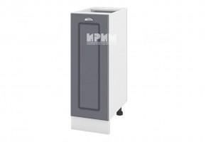 Долен кухненски шкаф с една врата - 30 см МДФ лице - БФ-Цимент мат-06-20