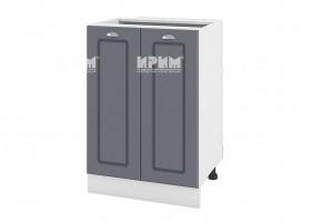 Долен кухненски шкаф с две врати - 60 см МДФ лице - БФ-Цимент мат-06-22