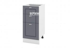Долен кухненски шкаф с една врата и две чекмеджета - 40 см МДФ лице - БФ-Цимент мат-06-27 (ляв/десен)