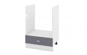Кухненски шкаф за вграждане на фурна с едно чекмедже - 60 см МДФ лице - БФ-Цимент мат-06-36