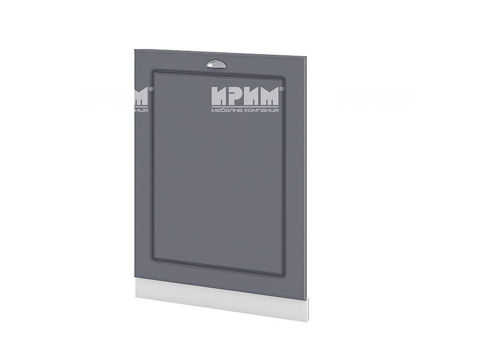 Врата за вградена съдомиялна с ширина 60 см МДФ лице - БФ-Цимент мат-06-39