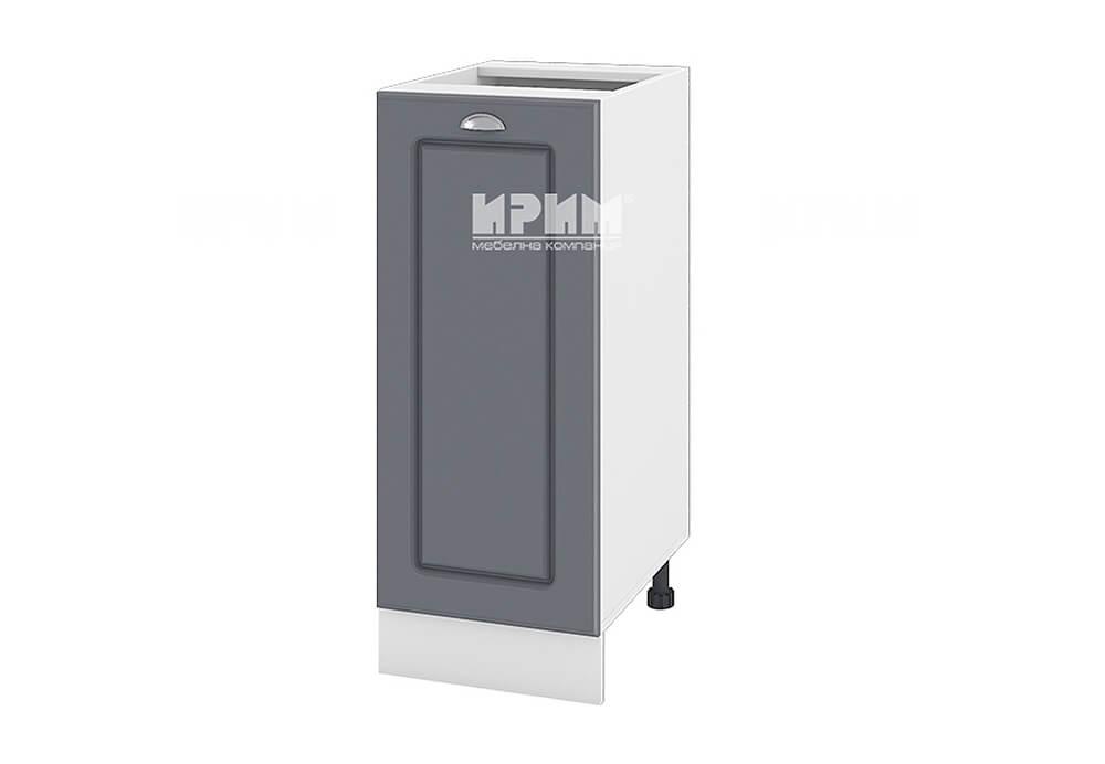 Долен кухненски шкаф с една врата - 35 см МДФ лице - БФ-Цимент мат-06-40