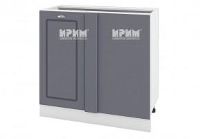 Долен кухненски шкаф с една врата за ъгъл - 90 см МДФ лице - БФ-Цимент мат-06-42