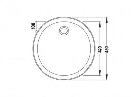 Кръгла мивка 490/490/160 за вграждане