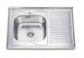 Бордова мивка с отцедник 800/600/180