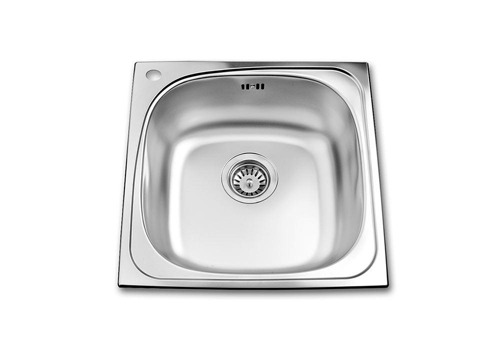 Квадратна мивка 480/480/170 за вграждане