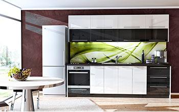 Кухня 11 с принт стъкло