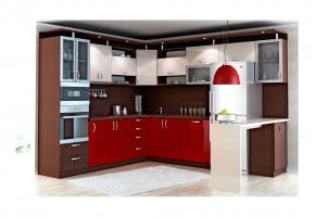 Ъглова кухня 13 с допълнителен работен плот
