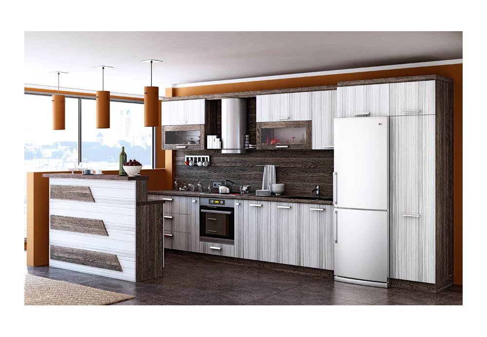 Кухня 19 с барплот