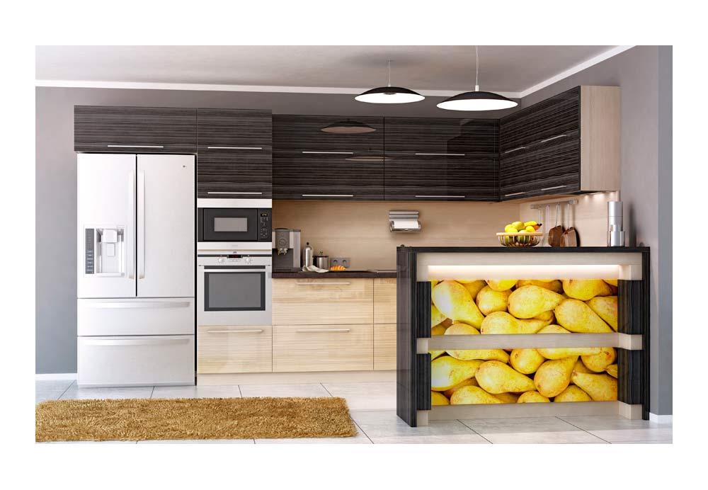 Кухня 24 с барплот