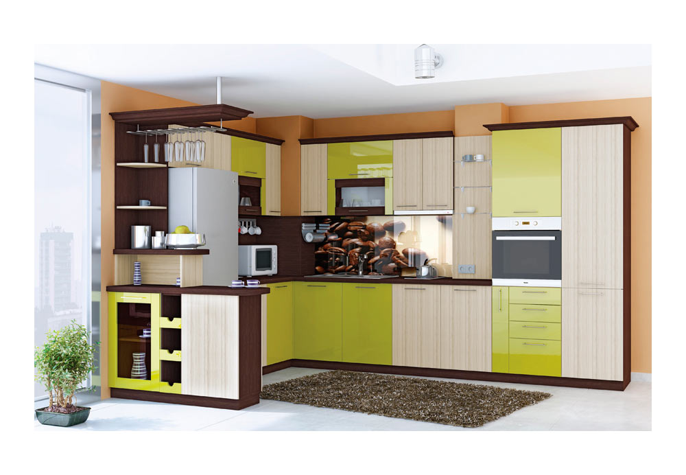 Ъглова Кухня 5 с барплот
