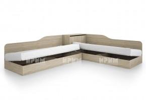 Ъглови легла City 2001 с повдигащ механизъм за еднолицеви матраци 82/190 см