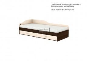Единично легло + две чекмеджета и странична табла