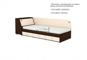 Единично легло + три чекмеджета и ракла