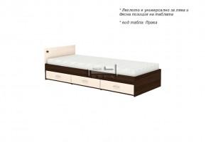Единично легло + три чекмеджета