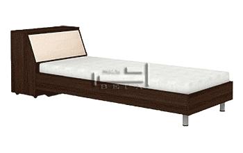 Единично легло Ерика с ракла и метални крака