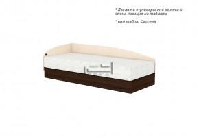 Единично легло с пружинен механизъм за еднолицев матрак и странична табла