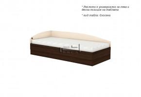Единично легло + повдигащи амортисьори и странична табла