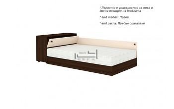 Спалня за еднолицев матрак + амортисьорен механизъм и ракла
