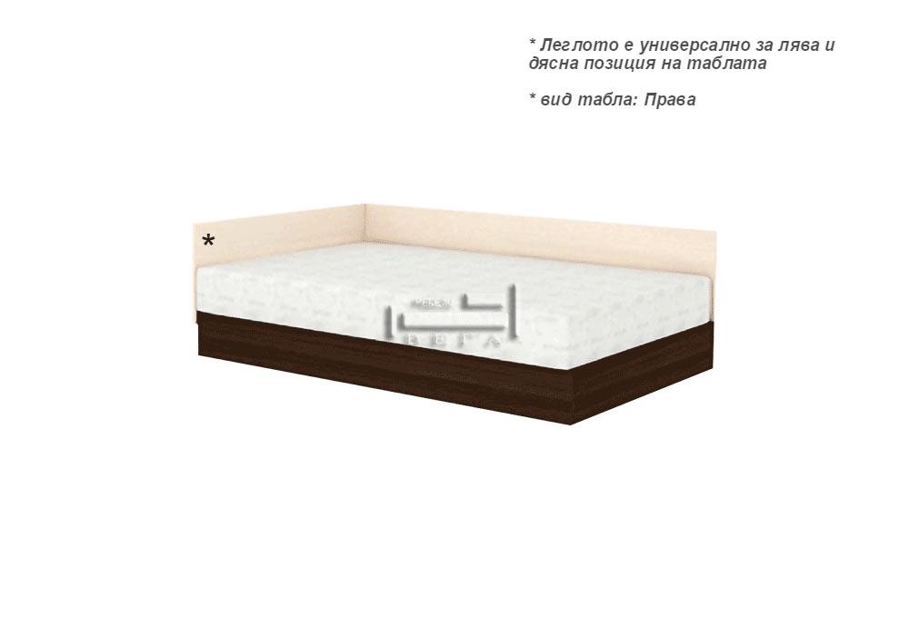 Спалня за еднолицев матрак + амортисьорен механизъм и странична табла