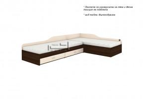 Ъглови легла с две чекмеджета + амортисьорен механизъм
