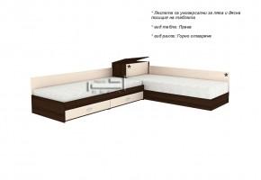 Ъглови легла с две чекмеджета + пружинен механизъм и ракла