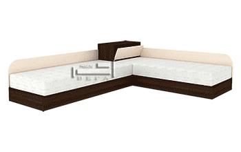Ъглови легла с пружинни механизми за еднолицеви матраци + ракла