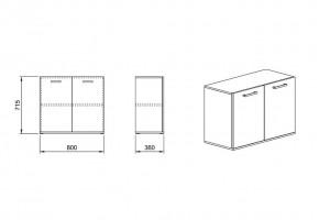Шкаф 10 от офис система Гранд