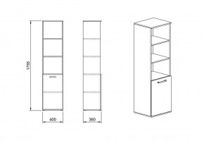 Шкаф 13 от офис система Гранд