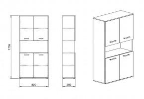 Шкаф 16 от офис система Гранд