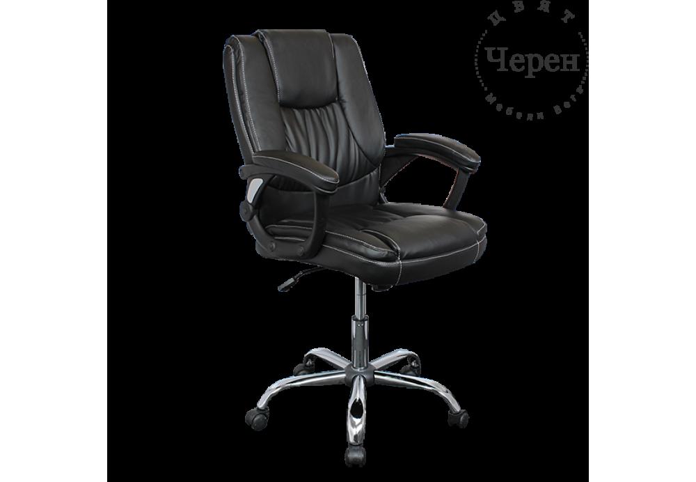 Президентски стол Carmen 6033 - черен